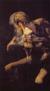Francisco De Goya - Saturn Devouring His Son - (paintings reproductions)