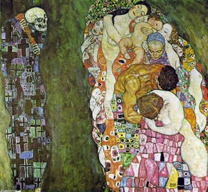 Gustav Klimt - Death and Life - (paintings reproductions)