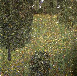 Gustav Klimt - Landscape of a garden, 1906 - Private collection