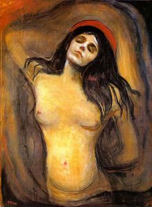 Edvard Munch - Madonna - (paintings reproductions)