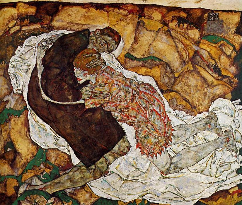 Death and the Maiden, 1915 by Egon Schiele (1890-1918, Croatia) | Museum Quality Copies Egon Schiele | WahooArt.com