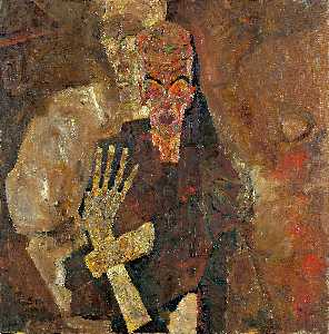 Egon Schiele - The Self-Seers II (Death and Man) - (Famous paintings reproduction)