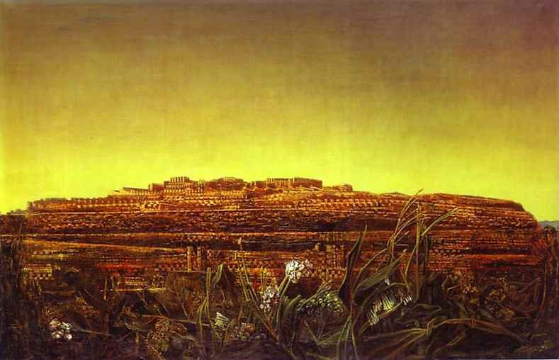 """MAX ERNST Surrealism Art Painting Poster or Canvas Print /""""The Entire City/"""""""