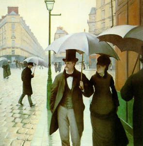 Gustave Caillebotte - Paris street, Rainy Day - (oil painting reproductions)