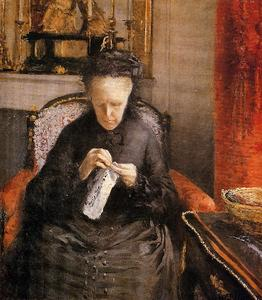 Gustave Caillebotte - Portait of Madame Martial Caillebote (the artist's mother)
