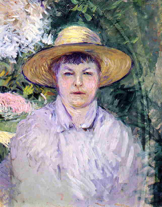 Portrait of Madame Renoir, 1888 by Gustave Caillebotte (1848-1894, France) | Art Reproductions Gustave Caillebotte | WahooArt.com