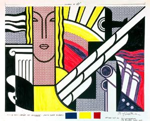 Roy Lichtenstein - Modern Tapestry Cartoon