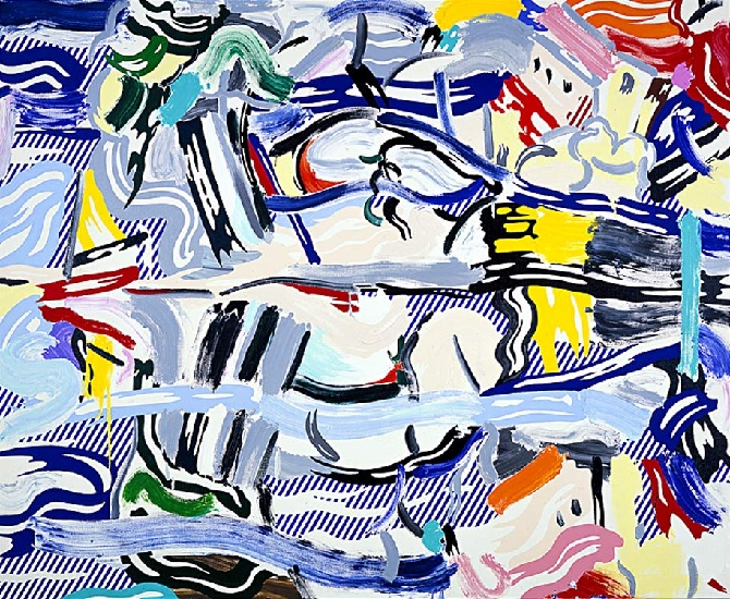 Reflections II, 1988 by Roy Lichtenstein (1923-1997, United States) |  | WahooArt.com