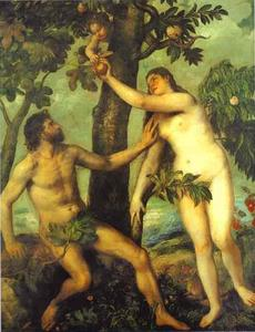 Tiziano Vecellio (Titian) - Adam and Eve