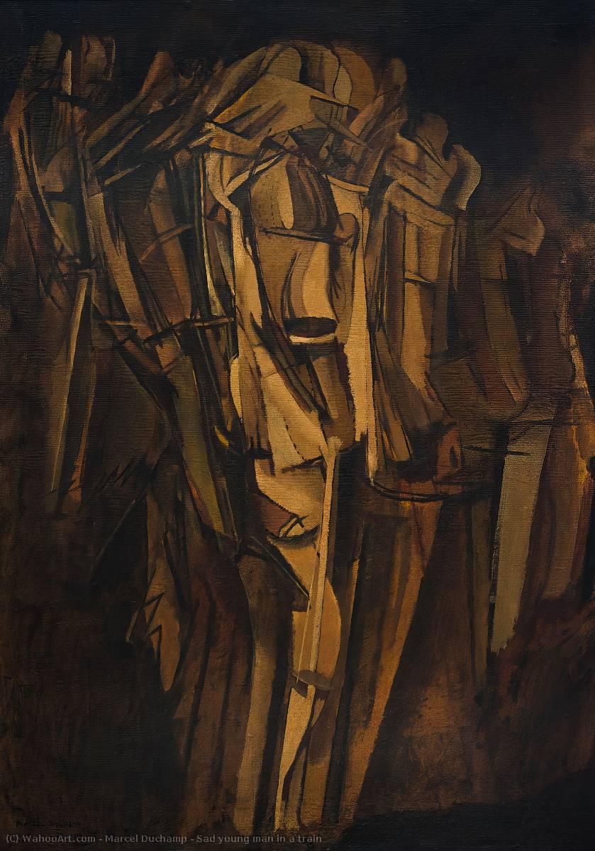 Sad jeune homme dans un train - Marcel Duchamp