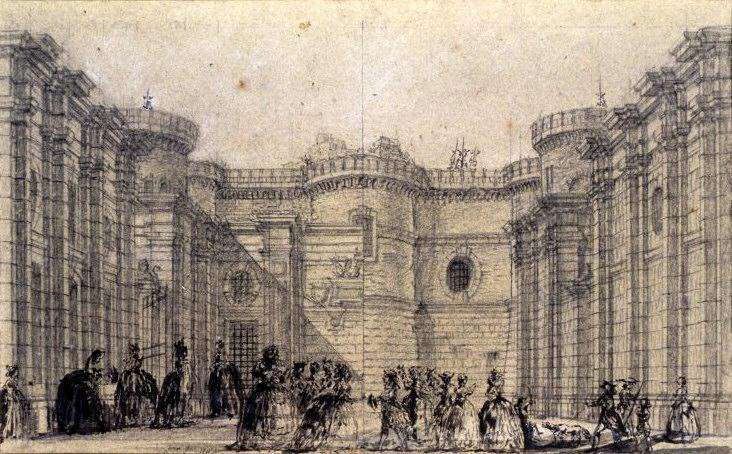 Bastille Courtyard by Jean-Honoré Fragonard (1732-1806, France) | Art  Reproductions Jean-Honoré Fragonard |