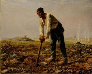 Jean-François Millet - Man With A Hoe - (oil painting reproductions)