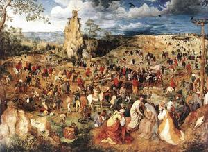 Pieter Bruegel The Elder - Christ Carrying the Cross - (Famous paintings reproduction)
