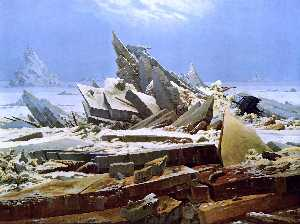 Caspar David Friedrich - The Sea of Ice - (paintings reproductions)