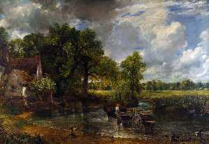 John Constable - The Hay Wain - (paintings reproductions)