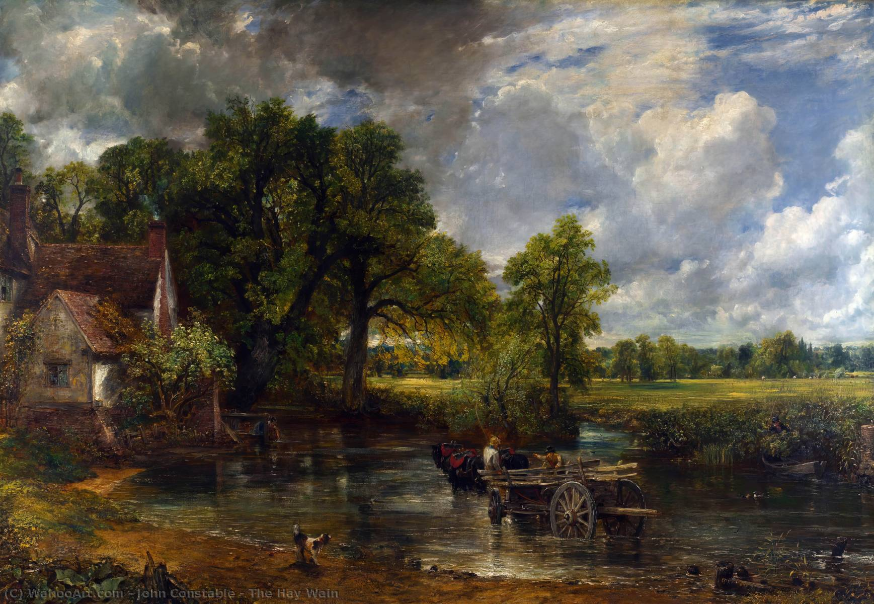 The Hay Wain, 1821 by John Constable (1776-1837, United Kingdom) | Art Reproductions John Constable | WahooArt.com