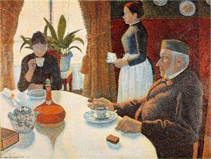 Paul Signac - Breakfast (The Dining Room) - (oil painting reproductions)