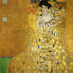 Gustav Klimt - Portrait of Adele Bloch-Bauer I - (paintings reproductions)