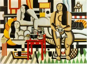 Fernand Leger - Three Women - (Famous paintings reproduction)