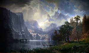 Albert Bierstadt - Among the Sierra Nevada Mountains, California - (Famous paintings reproduction)