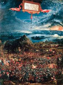 Albrecht Altdorfer - The Battle of Alexander at Issus - (paintings reproductions)
