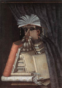 Giuseppe Arcimboldo - The Librarian - (Famous paintings reproduction)