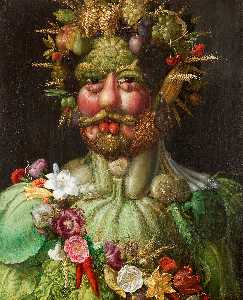 Giuseppe Arcimboldo - Vortumnus (Vertumno) - (Famous paintings reproduction)