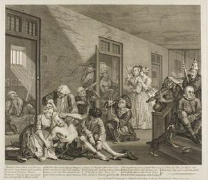 William Hogarth - Plate eight, from A Rake's Progress
