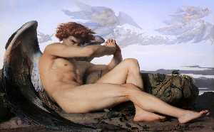 Alexandre Cabanel - Fallen Angel - (oil painting reproductions)