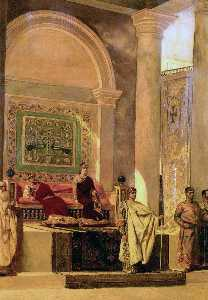 Jean-Joseph Constant (Benjamin-Constant) - The Throne Room In Byzantium - (Famous paintings reproduction)