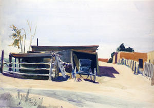 Adobes and Shed, New Mexico