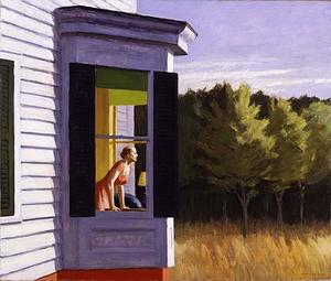 Edward Hopper - Cape Cod Morning - (paintings reproductions)