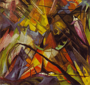 Franz Marc - Tyrol - (Famous paintings reproduction)