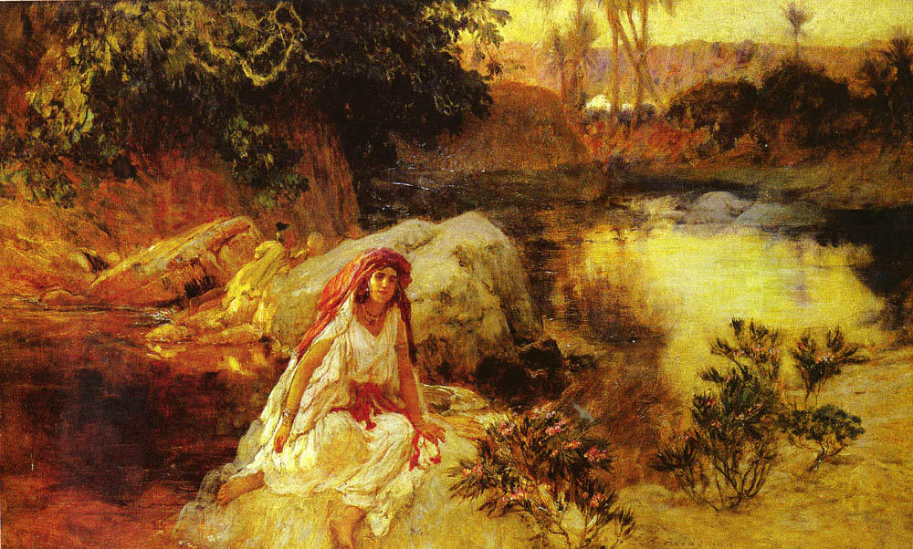 At The Oasis by Frederick Arthur Bridgman (1847-1928, United States) | Art Reproductions Frederick Arthur Bridgman | WahooArt.com