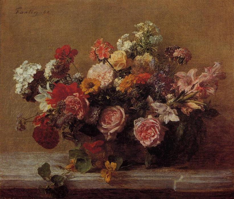 fiori di Henri Fantin Latour (1836-1904, France) | Riproduzioni Di ...