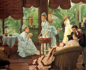 James Jacques Joseph Tissot - In the Conservatory