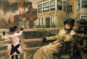 James Jacques Joseph Tissot - Waiting for the Ferry