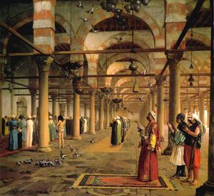 Jean Léon Gérôme - Public Prayer in the Mosque of Amr, Cairo - (Buy fine Art Reproductions)