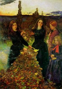 John Everett Millais - Autumn Leaves - (paintings reproductions)