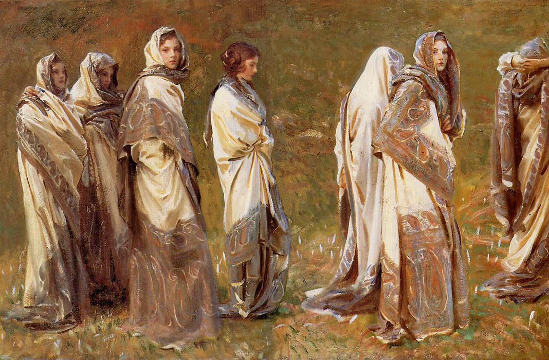Cashmere, 1908 by John Singer Sargent (1856-1925, Italy) | Painting Copy | WahooArt.com