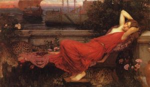 John William Waterhouse - Ariadne - (paintings reproductions)