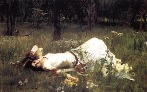 John William Waterhouse - Ophelia 1 - (Famous paintings reproduction)