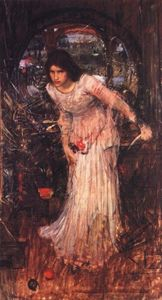 John William Waterhouse - The lady of shalott study - (oil painting reproductions)
