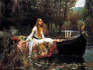 John William Waterhouse - The Lady of Shalott - (Famous paintings reproduction)