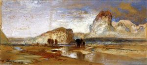 Thomas Moran - First Sketch Made in the West at Green River, Wyoming