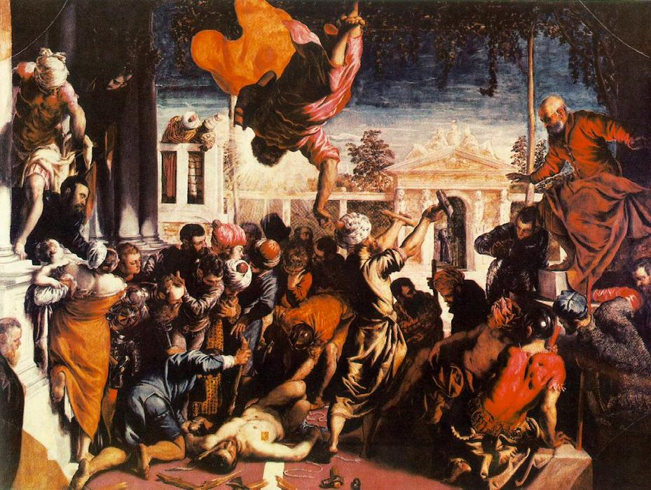 The Miracle of St Mark Freeing the Slave, 1548 by Tintoretto (Jacopo Comin) (1518-1594, Italy) | Museum Quality Copies Tintoretto (Jacopo Comin) | WahooArt.com