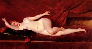William Merritt Chase - A Study in Curves - (Famous paintings)