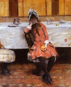 William Merritt Chase - Young Girl on an Ocean Steamer