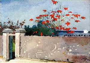 Winslow Homer - A Wall, Nassau - (Famous paintings)