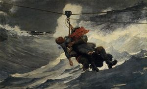 Winslow Homer - The Life Line - (oil painting reproductions)